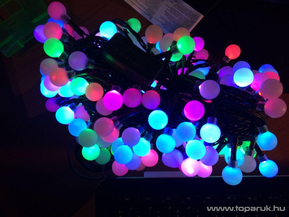 Design Dekor KDG 246 Kültéri design 240 LED-es gyöngy fényfüzér, 19,2 m hosszú, zöld színű kábellel, színes (multi) világítással - készlethiány