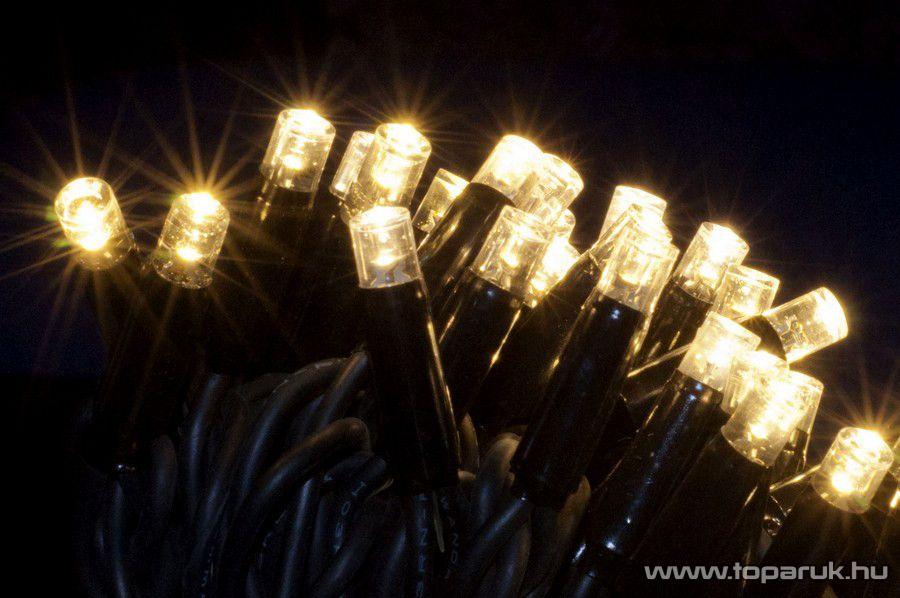 Design Dekor KDK 011 Kültéri toldható kontakt LED fényfüggöny, 100 x 400 cm, 280 db melegfehér LED-del