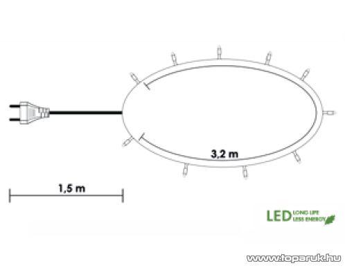 Design Dekor KDL 042 Beltéri LED-es fényfüzér, 40 db hidegfehér LED-del