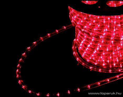 Design Dekor KNF 004 Kültéri vágható 1800 LED-es fénykábel, 50 méter hosszú, piros fényű