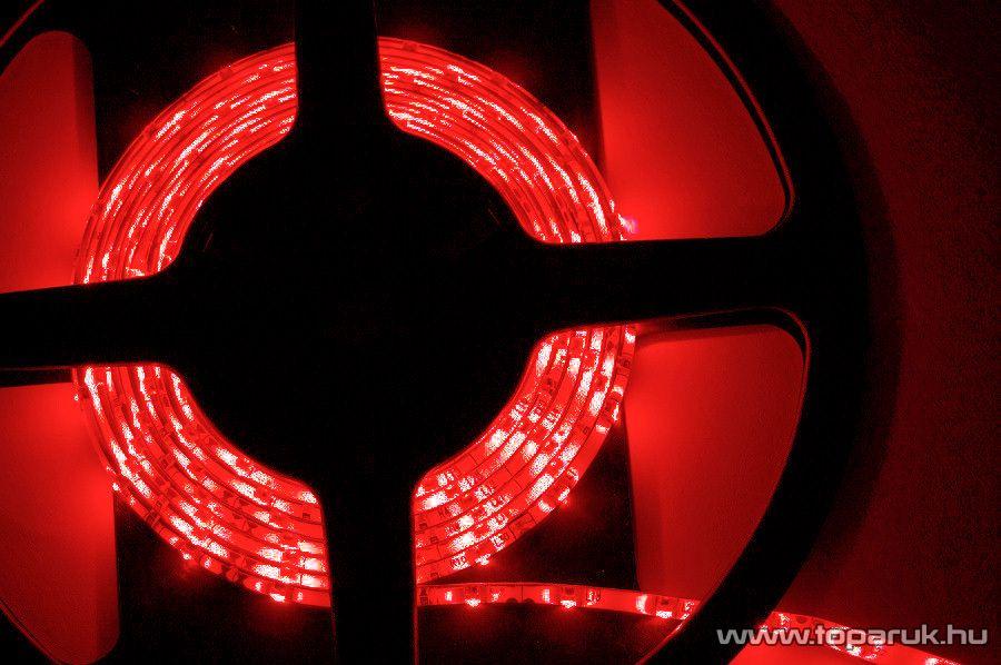Design Dekor Kültéri világító 180 LED-es SMD LED szalag közepes fényerejű 3528 SMD LED chippel, 3 méter hosszú, piros színű (KNS 333) - megszűnt termék: 2015. szeptember