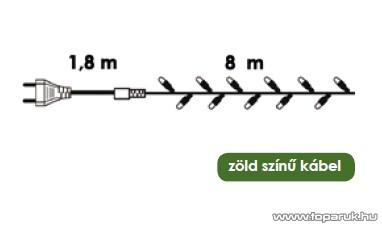 NORTEX KMN 009 Kültéri szabályozható micro égős fényfüzér, 8m, melegfehér