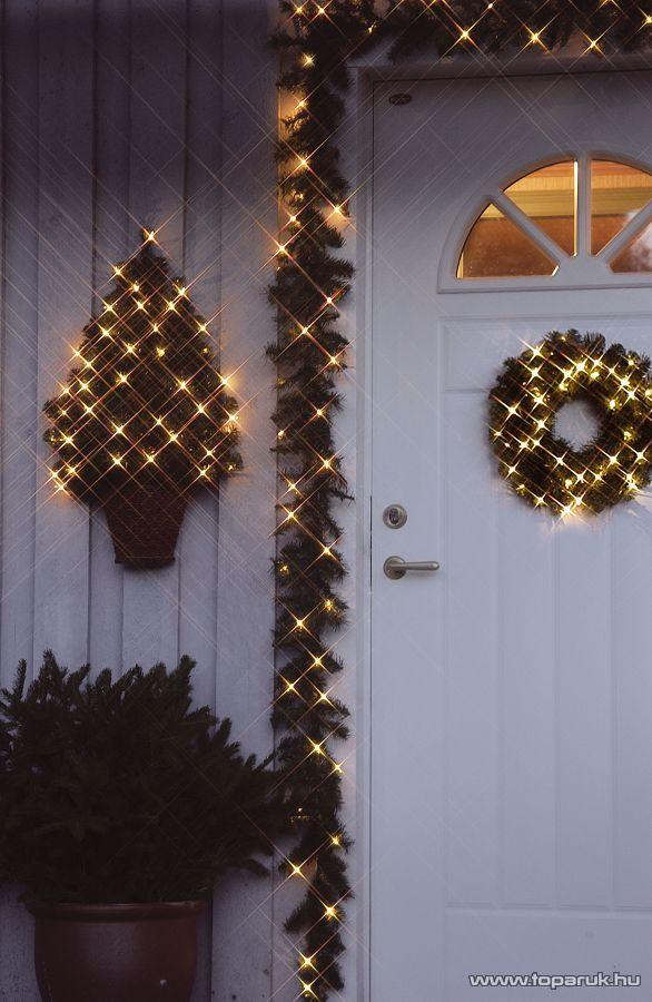NORTEX KMN 019 Light Chain 100 kültéri toldható micro égős fényfüzér, 10m, fehér (112-006)