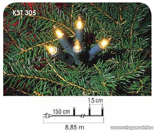 Design Dekor  KST 305 Beltéri hagyományos fényfüzér, fehér - készlethiány