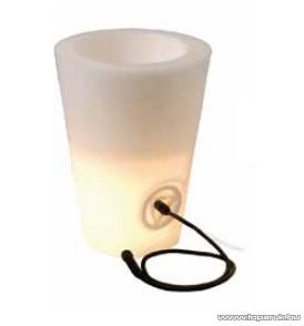 SYSTEM EXPO GARDEN GAR 497 Kültéri világító kaspó, műanyag, 50 cm EXTRA - készlethiány