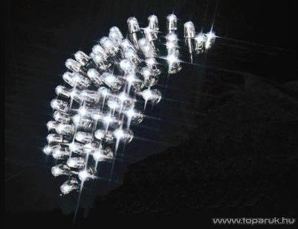 SYSTEM LED KSW 658 Kültéri toldható LED-es fényfüggöny EXTRA fehér színű vezetékkel, 100 x 200 cm, hidegfehér