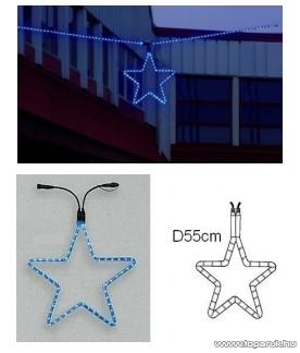 System LED KST 570 kiegészítő csillag motívum, 55 cm, EXTRA elem, sárga