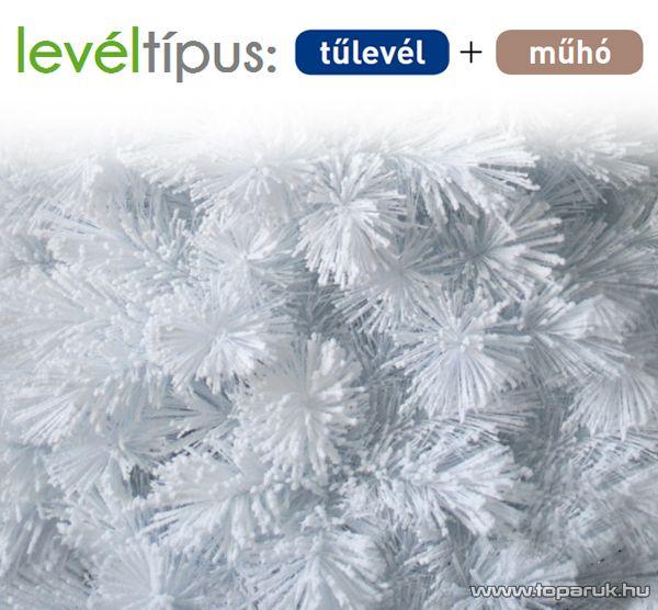 WHITE ANGEL fehér színű tűleveles műfenyő, műhó dekorációval, 180 cm (KFB 558)