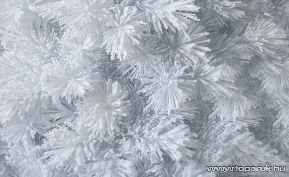 WHITE ANGEL fehér színű tűleveles műfenyő, műhó dekorációval, 240 cm (KFB 554)