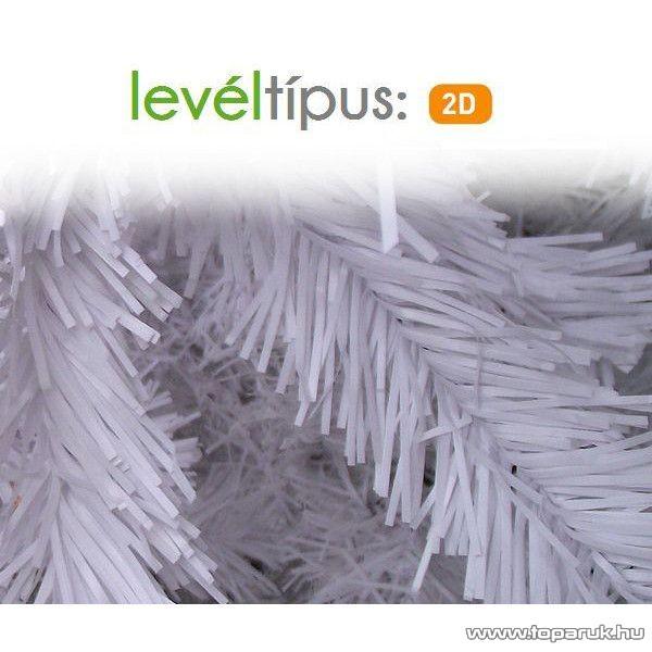 Fehér dús fenyő girland, 270 cm hosszú, 160 ág (KGR 277)