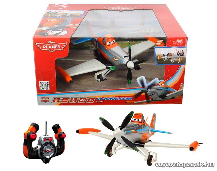 Dickie RC Repcsik Rozsdás (Dusty) távirányítós repülő, 1:24 (203089803) - készlethiány