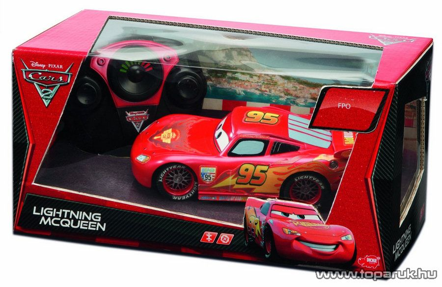 Dickie RC Verdák Villám McQueen távirányítós autó, 1:24 (203089501) - Megszűnt termék: 2015. December