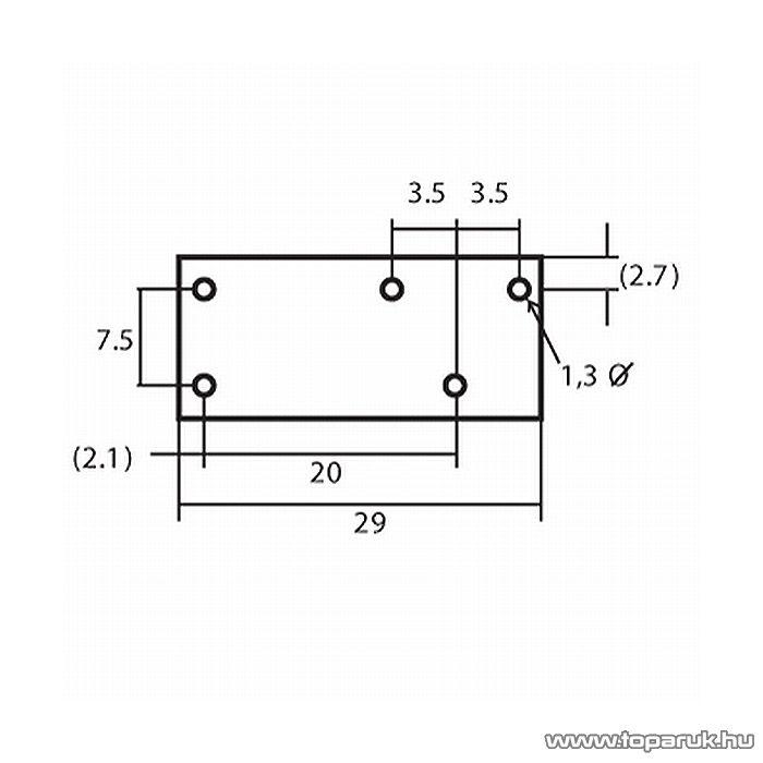 FINDER Relé, 12V, DC, 2x8A, 1 Morze, F4052-12, 2 db / csomag (08205)
