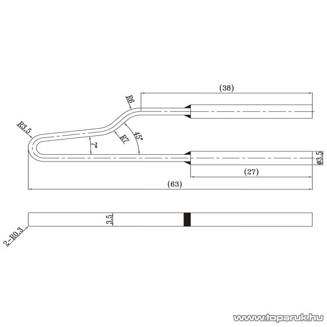 Fahrenheit Pákahegy 28021-es pákához, 2 db / csomag (28050) - készlethiány