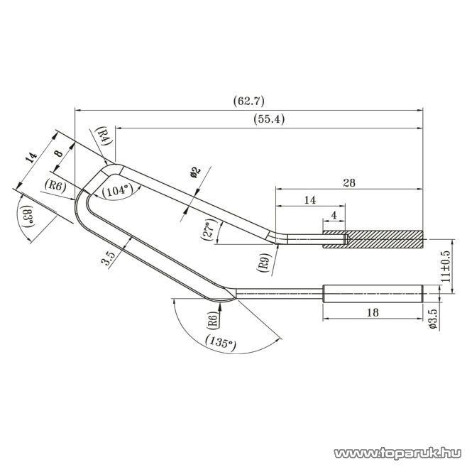 Fahrenheit Pákahegy 28021-es pákához, 2 db / csomag (28051)