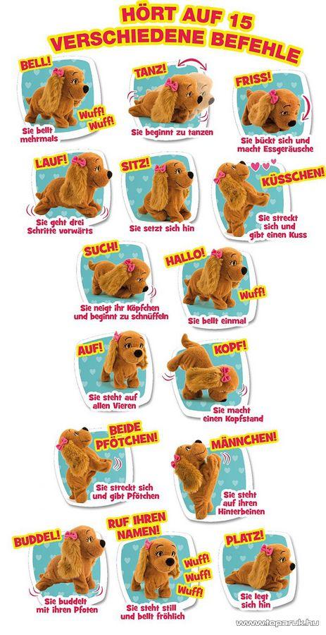 Lucy interaktív plüss kutya