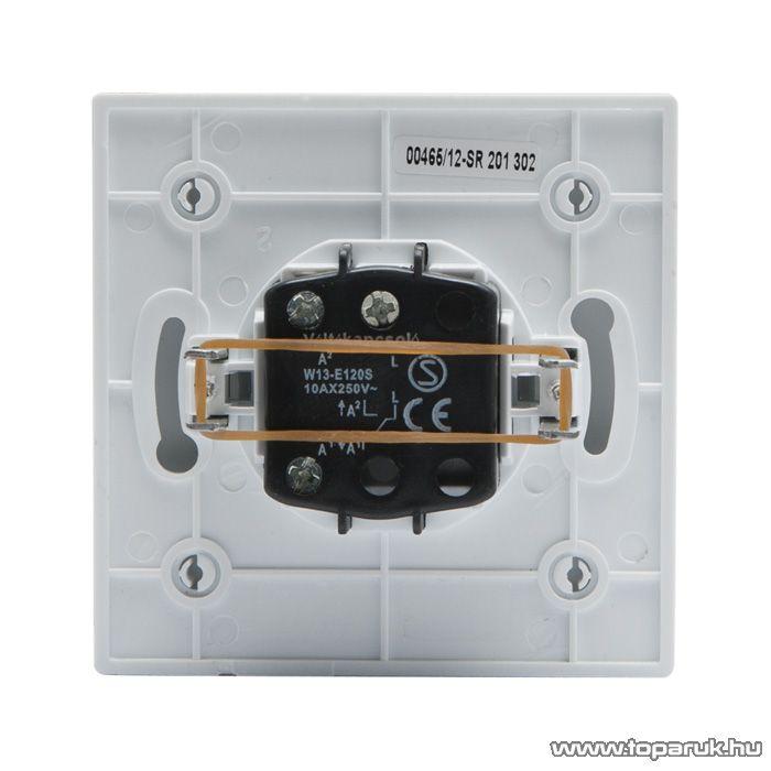 Süllyesztett beltéri váltókapcsoló kerettel, fehér, 230V, 50Hz, 10A (05904)
