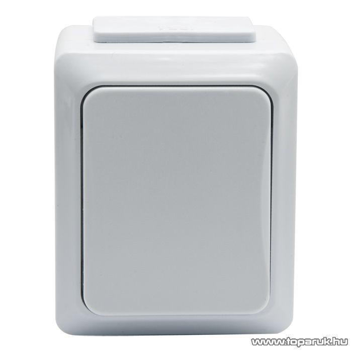 Falon kívüli kültéri váltókapcsoló, fehér, IP54, 230V, 50Hz, 10A (05930)