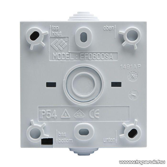 Falon kívüli kültéri váltókapcsoló, fehér, IP54, 230V, 50Hz, 10A (05931)