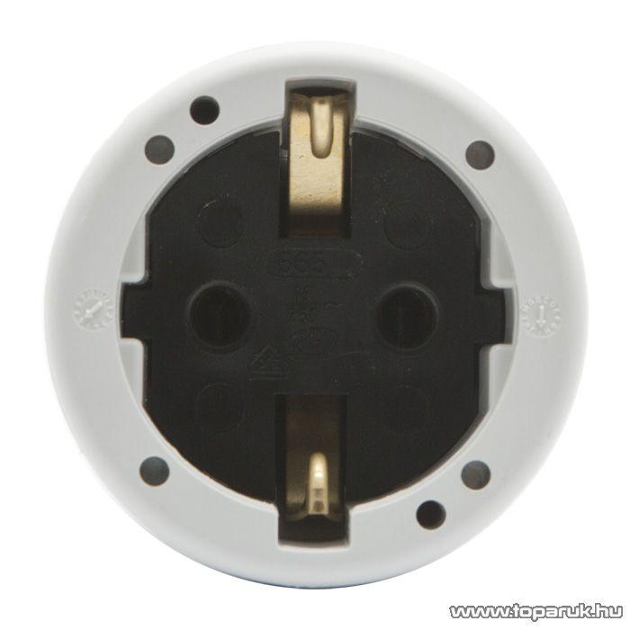 Hálózati lengő 1-es dugalj, 230V, 50Hz, 16A, fehér ( 05936)