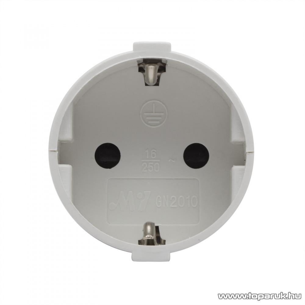 Hálózati lengő 1-es dugalj, 230V, 50Hz, 16A, fehér (05937)