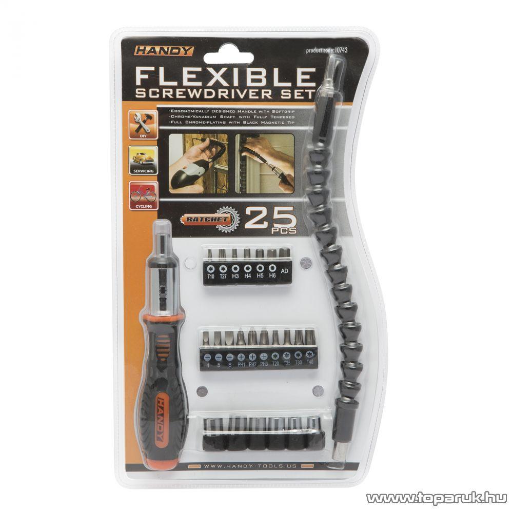 Handy 25 db-os racsnis csavarhúzó készlet flexibilis bitszárral (10743)