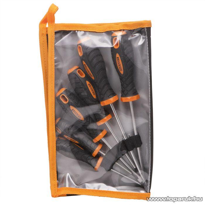 Handy TIRE TRAK gumírozott nyelű csavarhúzó készlet, 6 db / csomag (10746)
