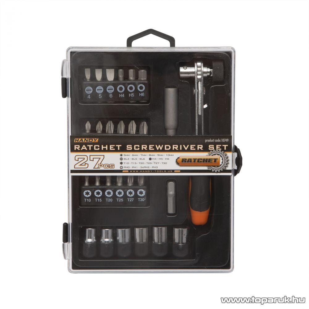 Handy 27 db-os racsnis csavarhúzó készlet (10749)