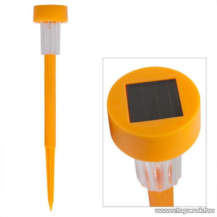 Led-es napelemes szolár lámpa, narancs (11388OR) - megszűnt termék: 2014. április