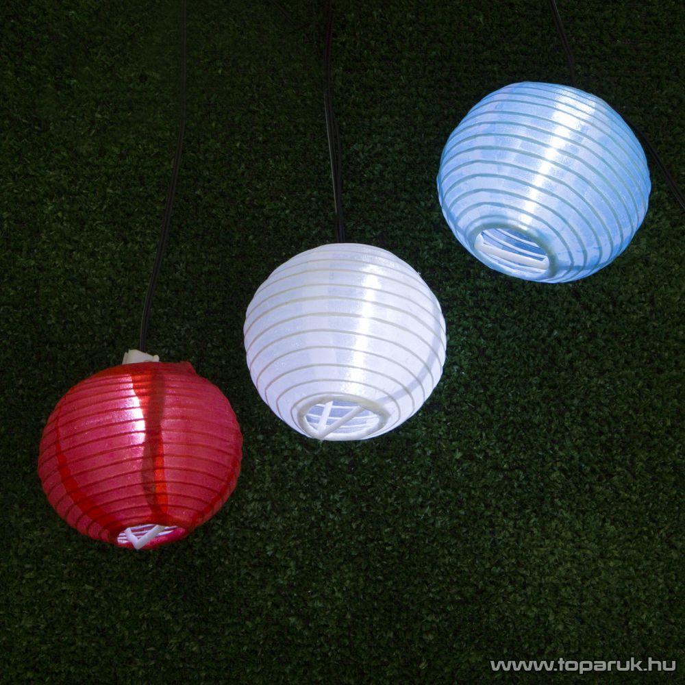 delight LED-es szolár napelemes lampion világító fényfüzér szett, 10 db-os (11401) - készlethiány