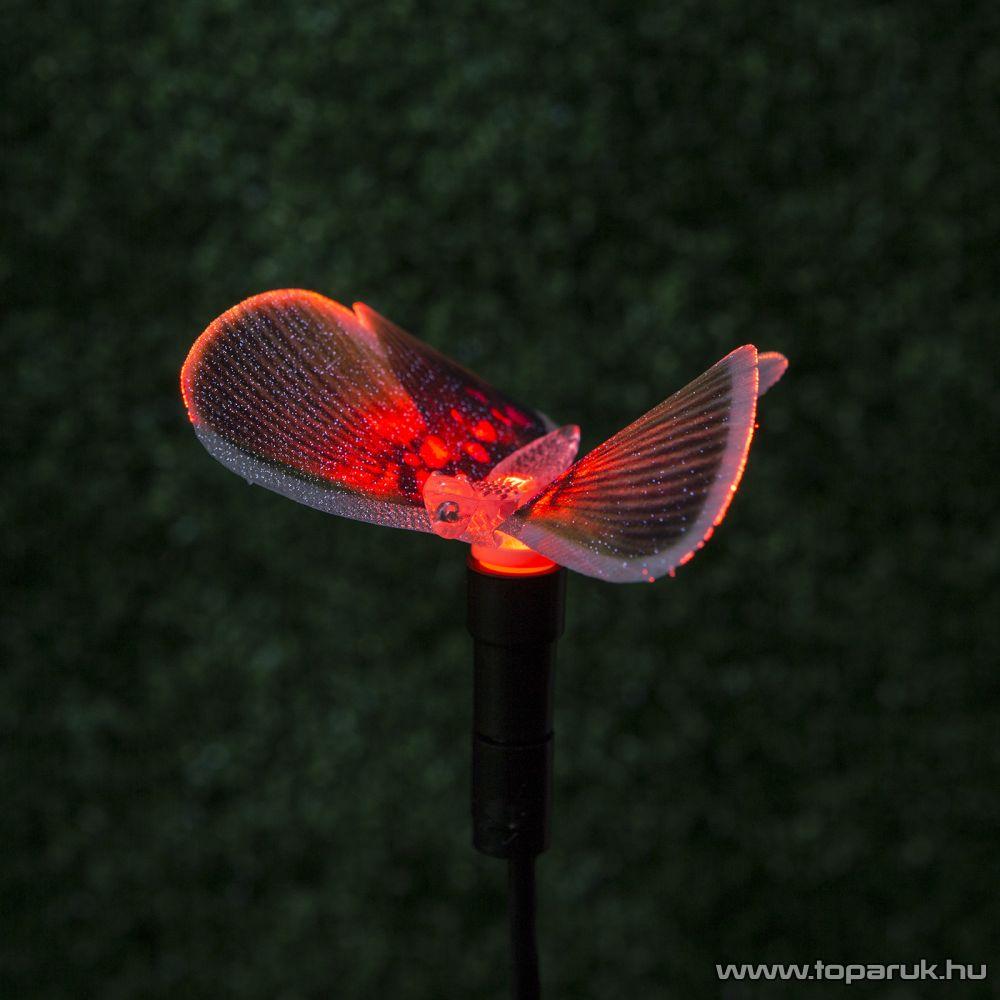delight LED-es szolárlámpa, napelemes kerti lámpa, színváltós pillangó, 4 féle pillangó forma (11433) - megszűnt termék: 2015. május