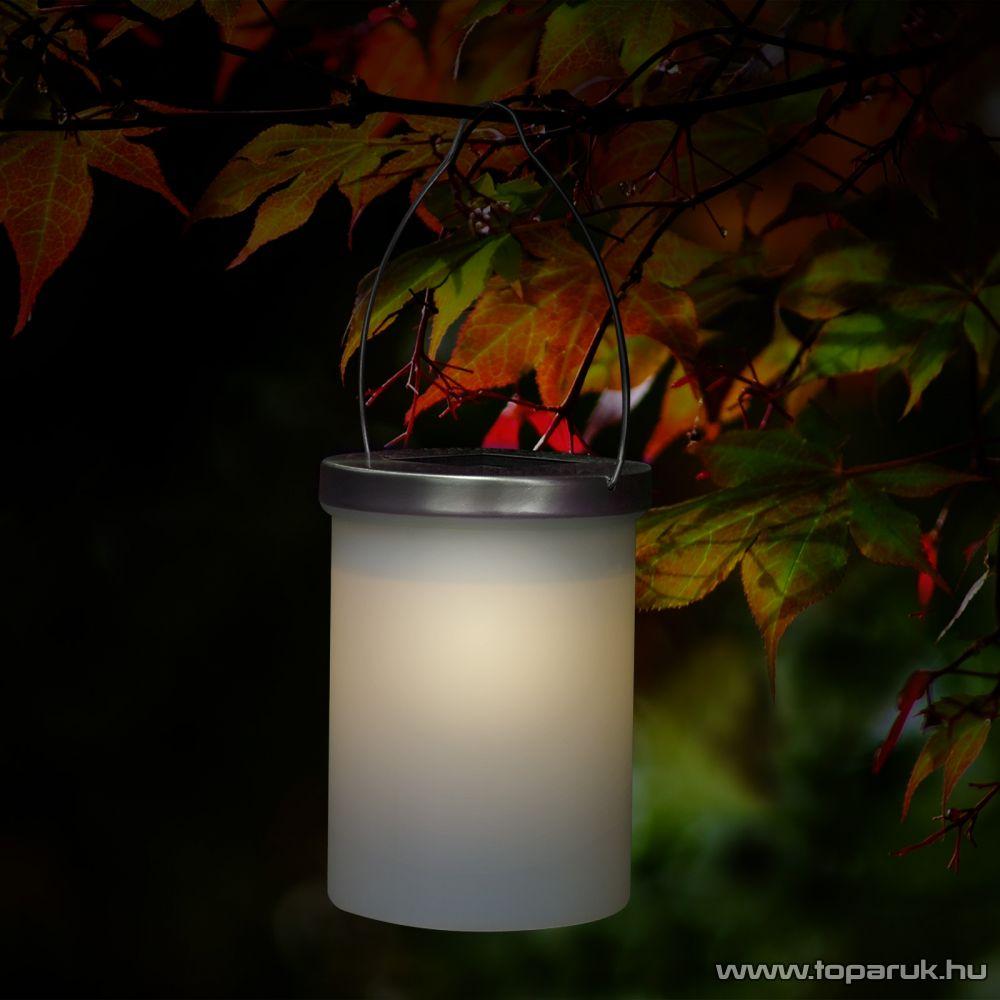 delight LED-es szolár lámpa, napelemes kerti lámpa, henger alakú, villogó effekttel, 12 x 9 cm (11444) - megszűnt termék: 2015. május