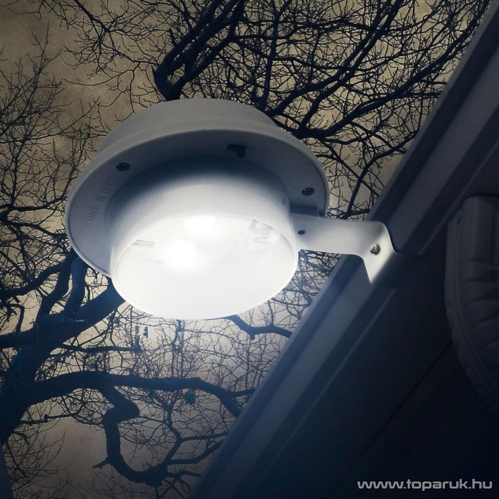 delight LED-es szolár lámpa, napelemes kerti lámpa, ereszcsatorna / kerítés fény, 3 LED-del  (11445) - készlethiány