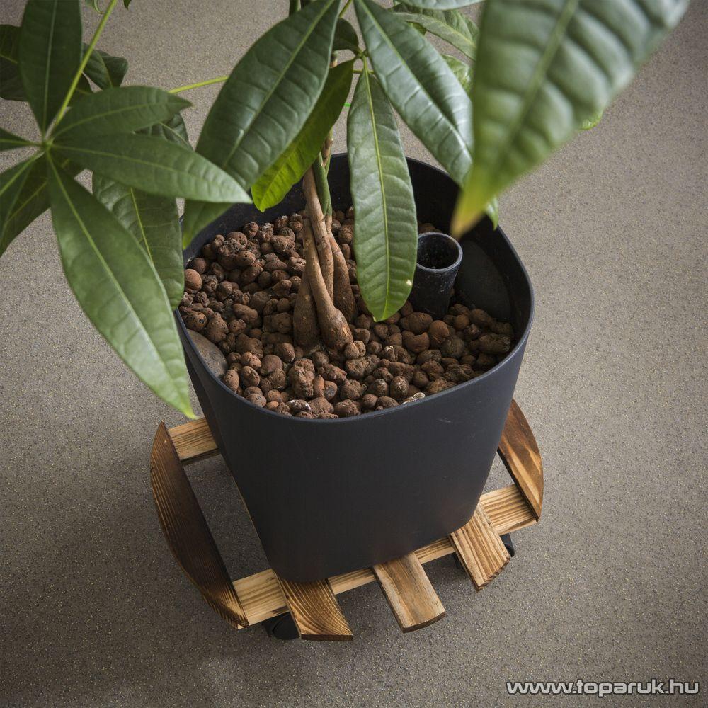 Gurulós fa növénytartó állvány, 30 cm (11467)