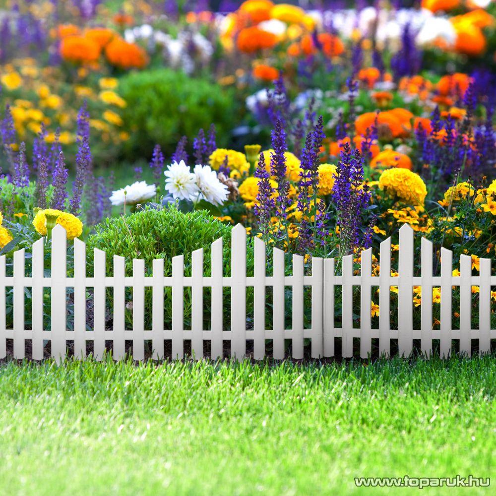 Műanyag virágágyás szegély, kerítés, 60 x 23 cm (11468)