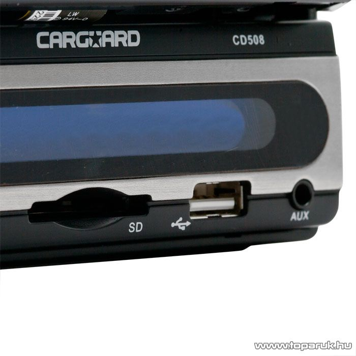 """Carguard Multimédia autórádió, fejegység DVD lejátszóval 7""""-os LCD kijelzővel (39703) - megszűnt termék: 2014. november"""