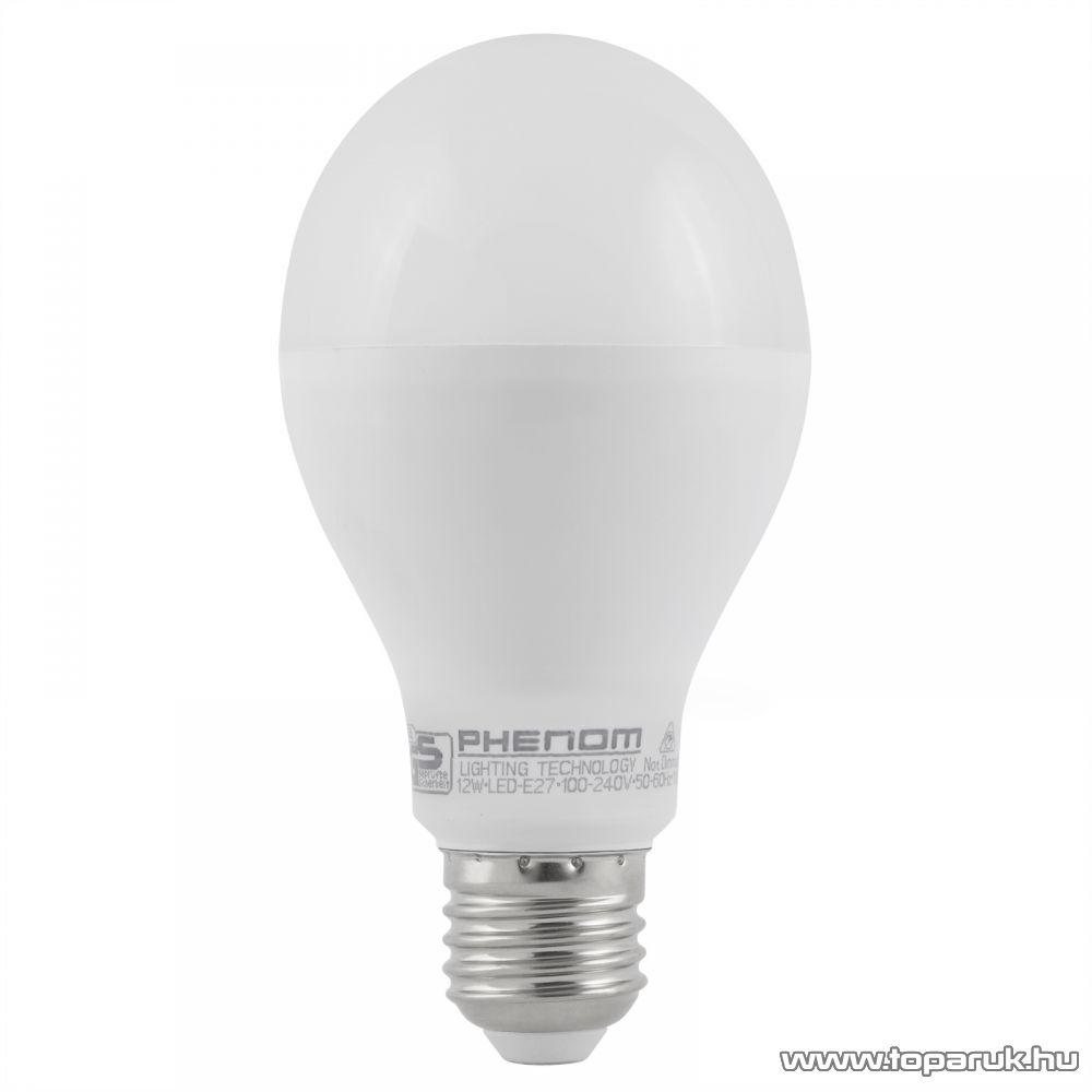 Phenom Led-es energiatakarékos izzó, 12W-os, E27 foglalatba, hideg fehér fényű (40203C)