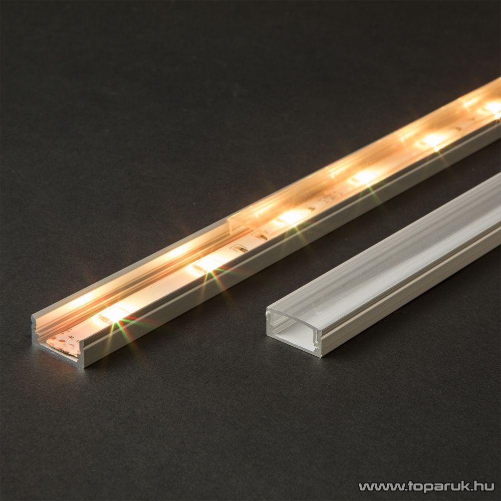 Phenom 41010A1 Aluminium profil sín LED szalaghoz, 1000 x 17 x 8 mm (U profil)