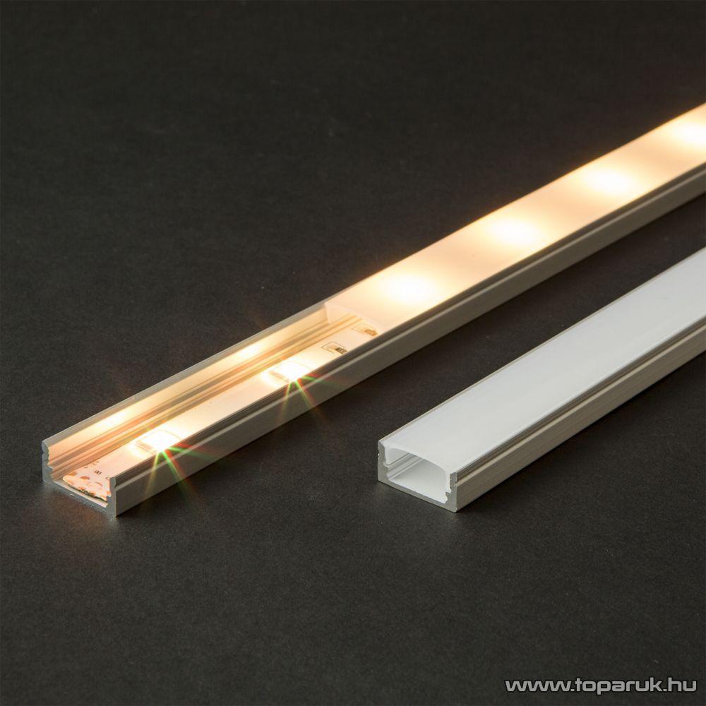 Phenom 41010M1 LED aluminium profil takaró búra a 41010A1 típusú profil sínhez, opál, 1000 mm hosszú
