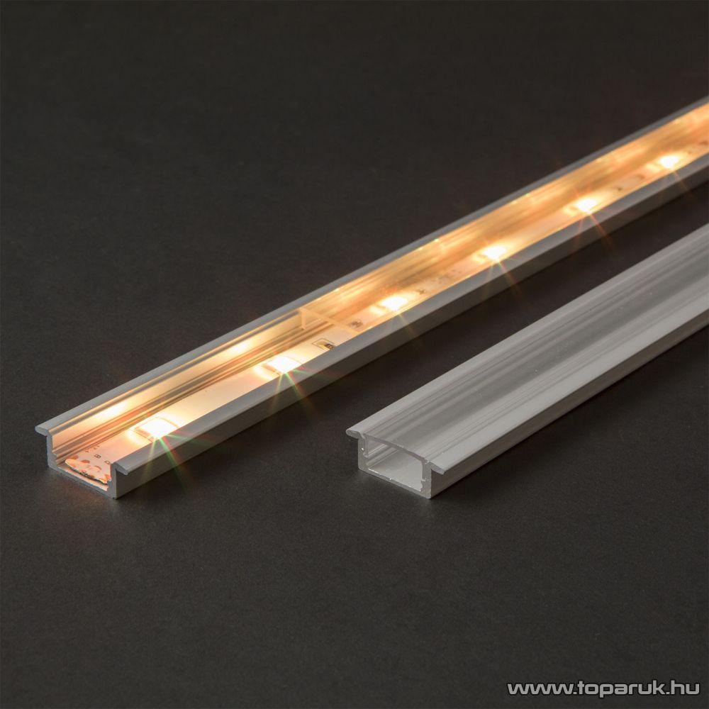 Phenom 41011A1 Aluminium profil sín LED szalaghoz, 1000 x 23(17) x 8 mm (süllyeszthető, U profil)
