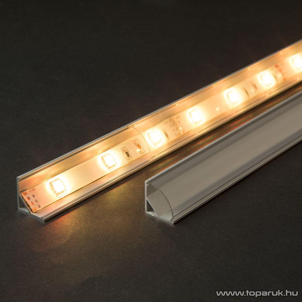 Phenom 41012A1 Aluminium profil sín LED szalaghoz, 1000 x 16 x 16 mm (íves sarok profil)