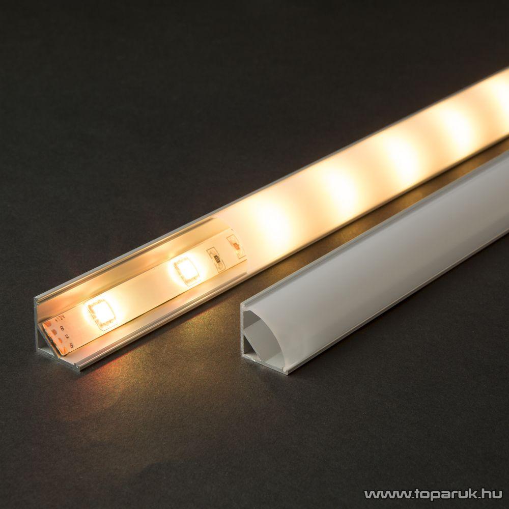 Phenom 41012M1 LED aluminium profil takaró búra a 41012A1 típusú profil sínhez, opál, 1000 mm hosszú