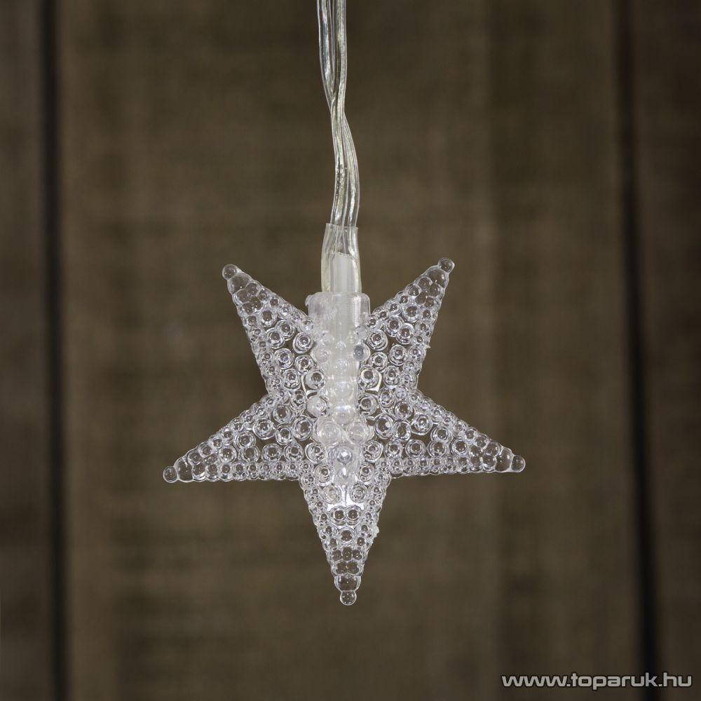TA-Brand SKE 40/WW Beltéri LED-es csillag fényfüzér, 5 m hosszú, 40 db meleg fehér fényű LED-del, állófényű