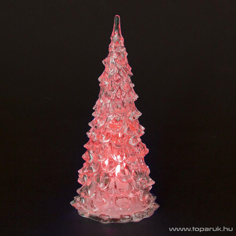 Beltéri 1 db Színváltós LED-del világító karácsonyfa dekoráció, 18 cm