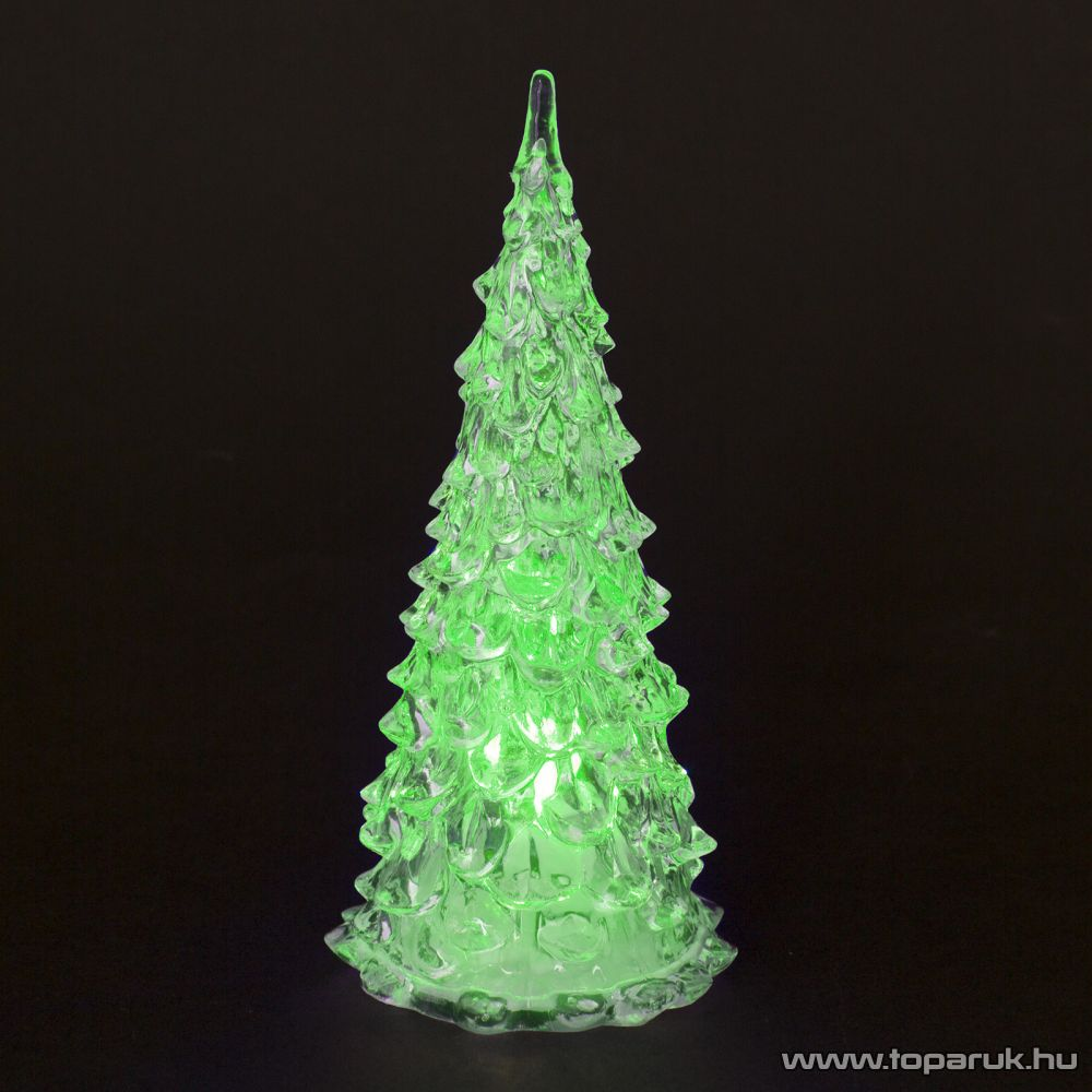 Beltéri 1 db Színváltós LED-del világító karácsonyfa dekoráció, 22 cm