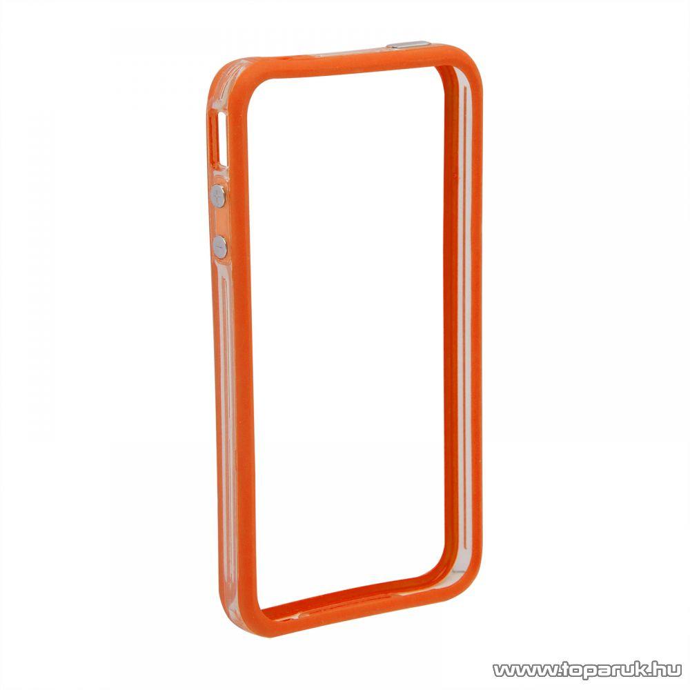 iPhone 4 / iPhone 4S szilikon védőkeret, bumper, átlátszó - színes (55404A) - megszűnt termék: 2016. július