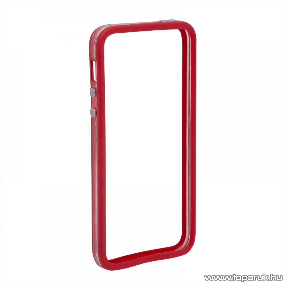 iPhone SE / 5 / iPhone 5S szilikon védőkeret, bumper, átlátszó - színes (55404B) - megszűnt termék: 2016. július
