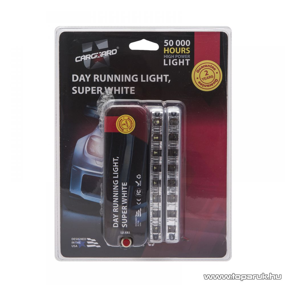 Carguard LED-es autó menetfény, DLA001, 8W, 900 lumen, 1 pár (50991)
