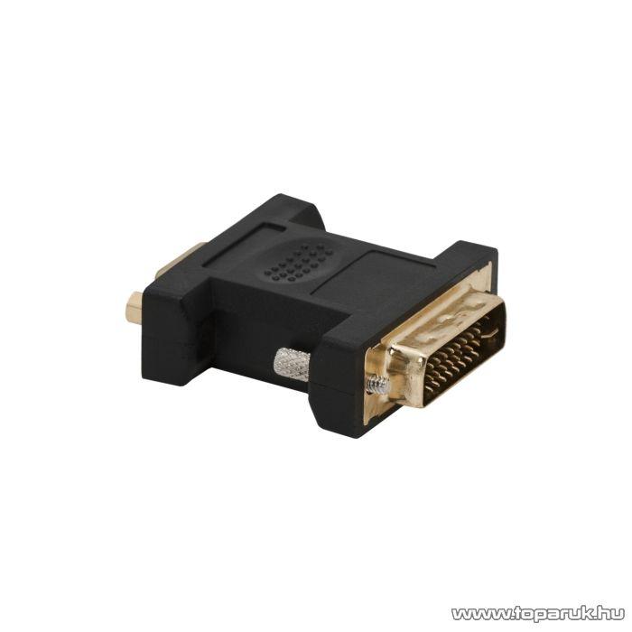Delight VGA / DVI átalakító VGA aljzat - DVI dugó, aranyozott (05738)