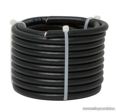Delight Koax kábel, RG 6, 75 ohm, fekete, 5 m / tekercs (NX20034x5)